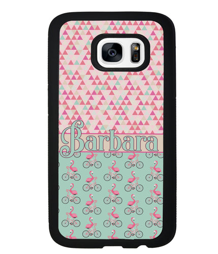 Flamingo's on Bicycle's Personalized | Samsung Phone Case