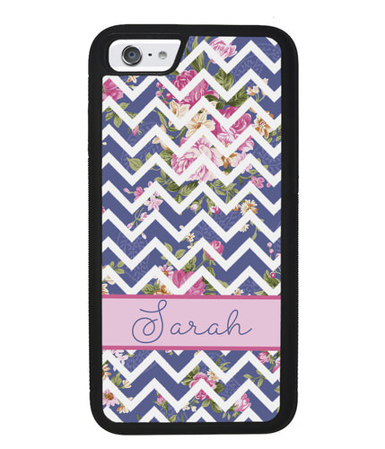Flower Chevron Personalized | Apple iPhone Case