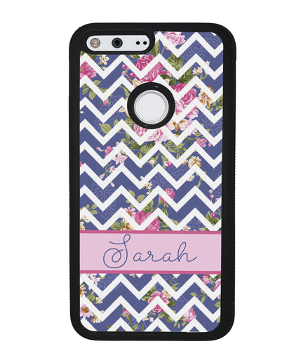 Flower Chevron Personalized | Google Phone Case