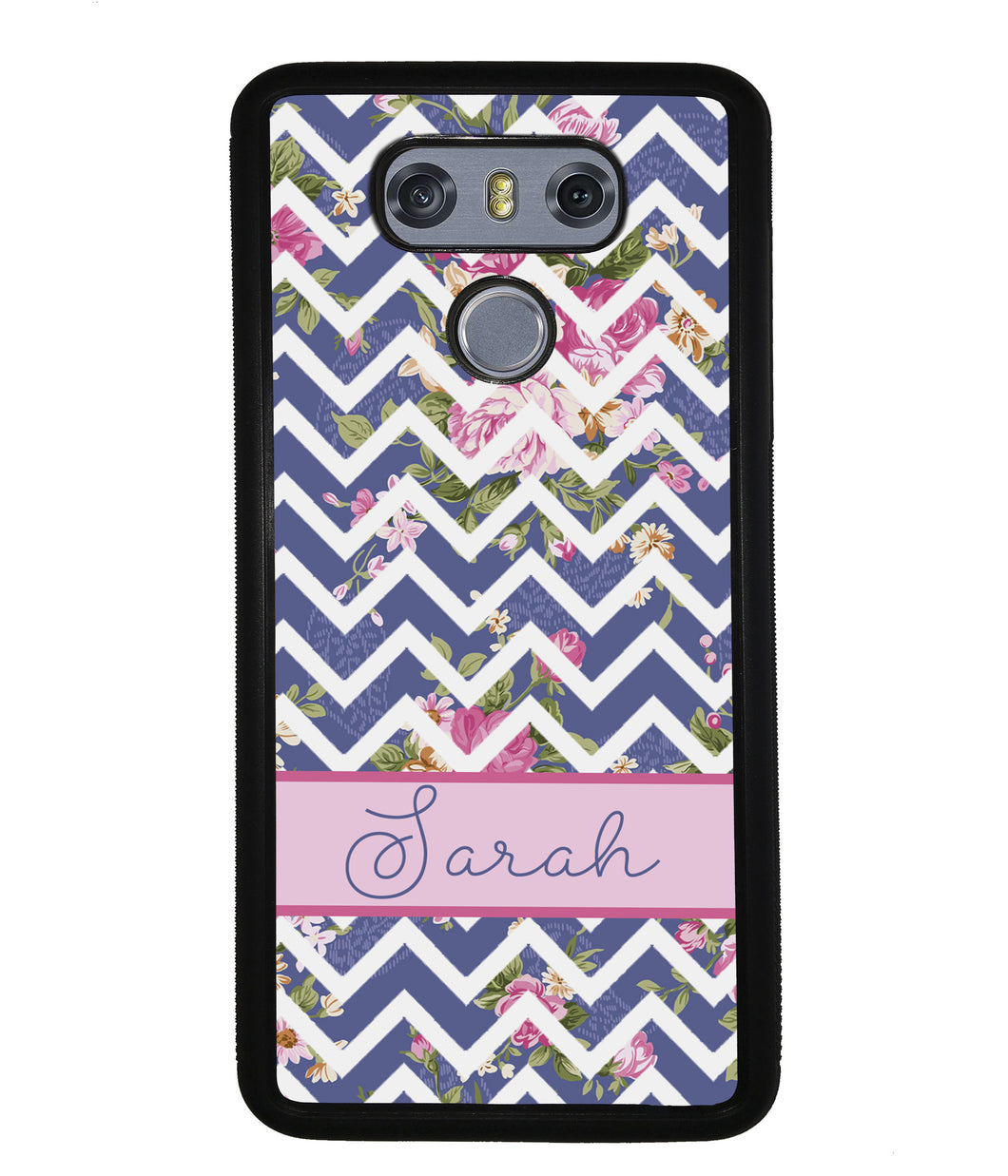 Flower Chevron Personalized | LG Case