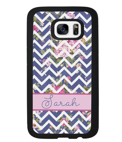 Flower Chevron Personalized | Samsung Phone Case