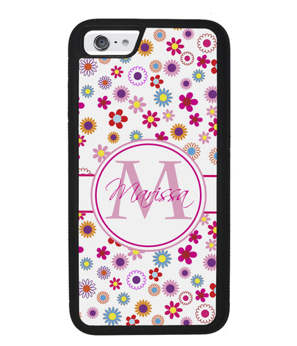 Pretty Flowers Personalized | Apple iPhone Case