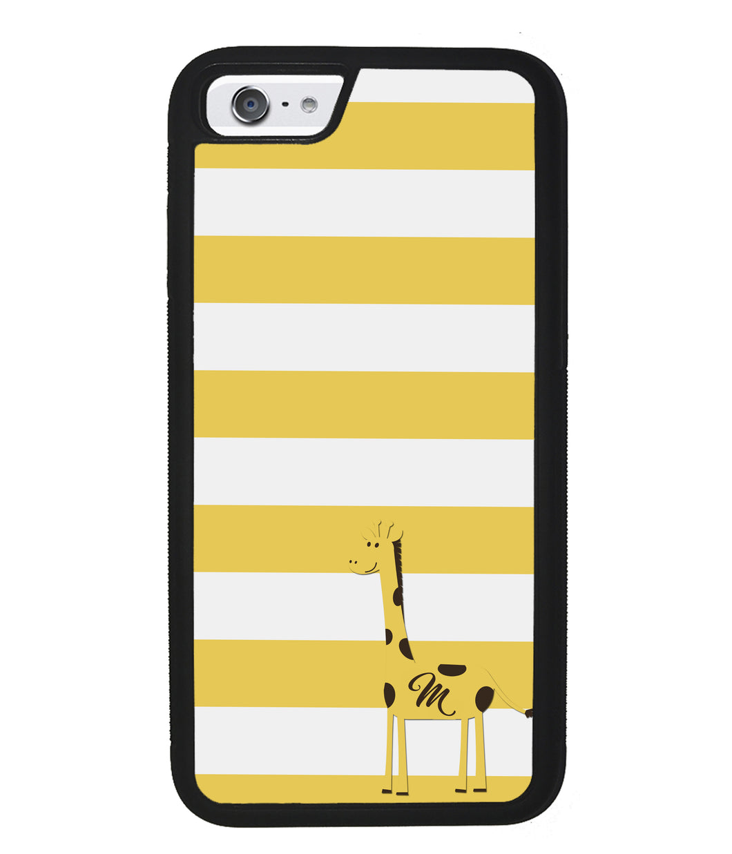 Giraffe Yellow Bars Initial | Apple iPhone Case