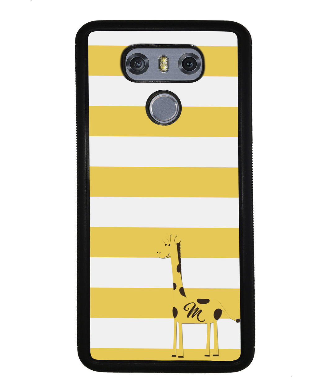 Giraffe Yellow Bars Initial | LG Phone Case