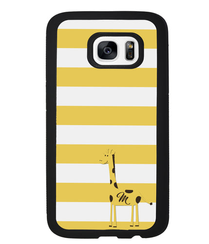 Giraffe Yellow Bars Initial | Samsung Case