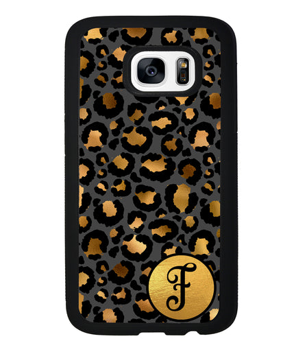 Gold Foil Leopard Skin Personalized | Samsung Phone Case
