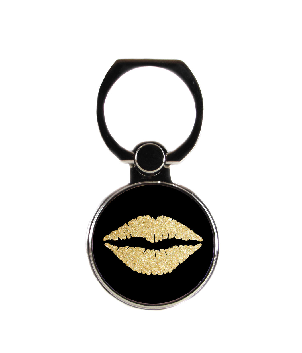 Gold Lips Phone Ring