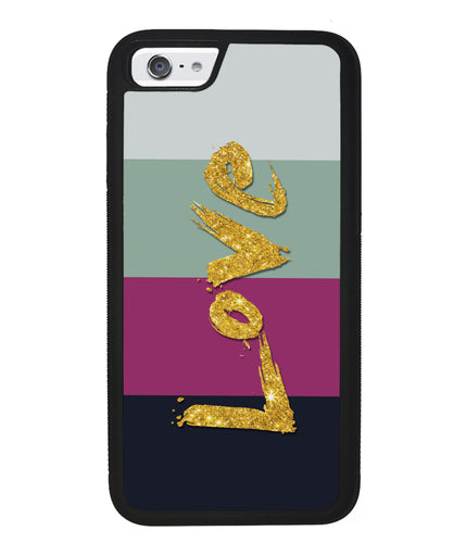 Golden Love Colored Bars | Apple iPhone Case