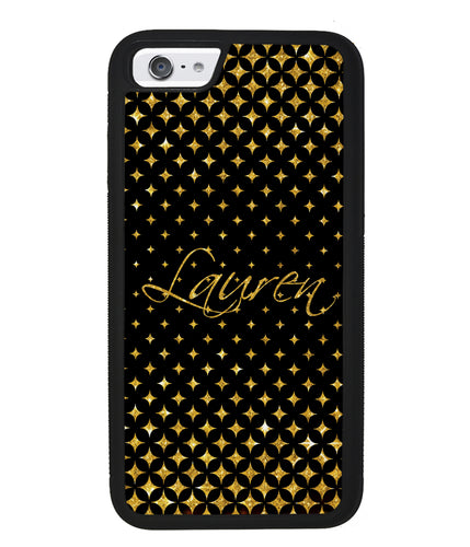 Golden Diamonds Personalized | Apple iPhone Case