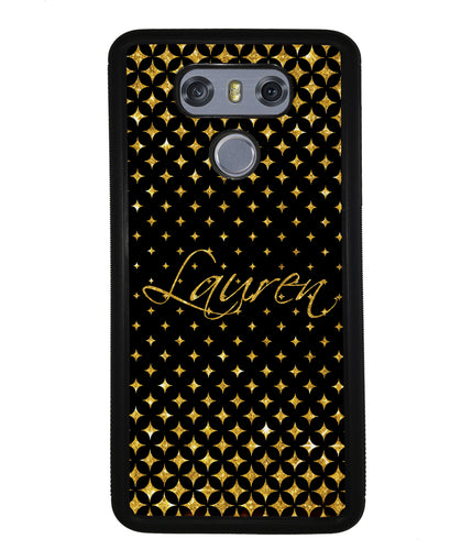 Golden Diamonds Personalized | LG Case