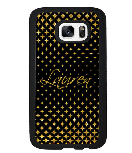 Golden Diamonds Personalized | Samsung Phone Case