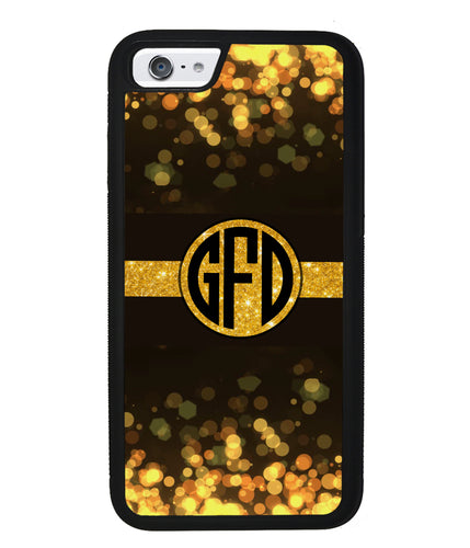 Golden Dots Circle Monogram | Apple iPhone Case