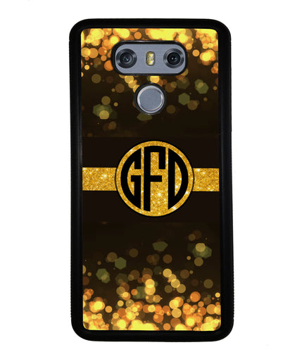 Golden Dots Circle Monogram | LG Phone Case