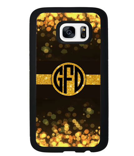Golden Dots Circle Monogram | Samsung Phone Case