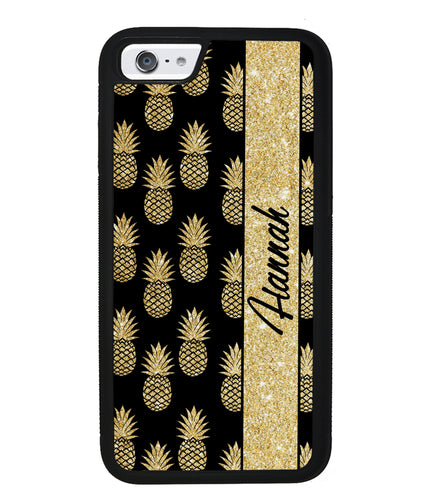 Golden Pineapples Personalized | Apple iPhone Case