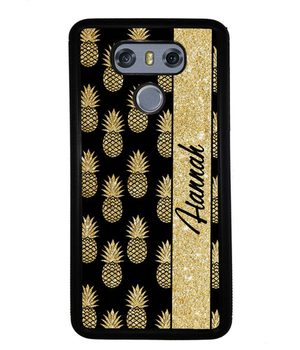 Golden Pineapples Personalized | LG Phone Case
