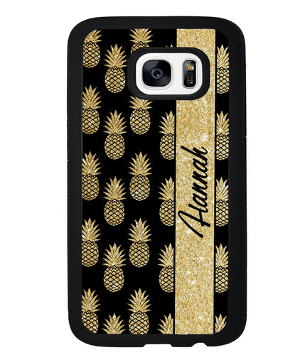 Golden Pineapples Personalized | Samsung Phone Case