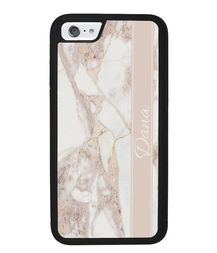 Golden Pink Marble Personalized | Apple iPhone Case