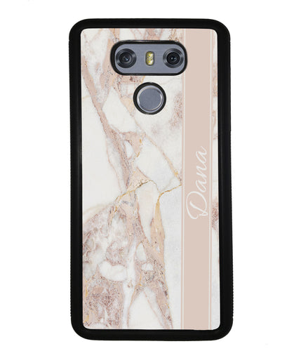 Golden Pink Marble Personalized | LG Case