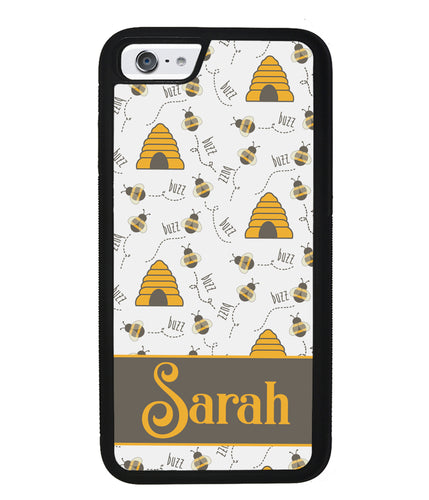 Honey Bee and Hive Personalized | Apple iPhone Case