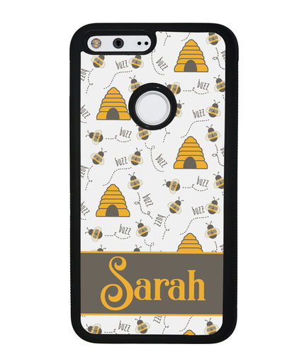 Honey Bee and Hive Personalized | Google Phone Case