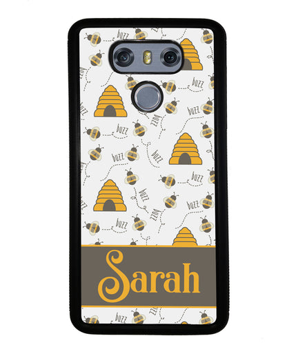 Honey Bee and Hive Personalized | LG Phone Case