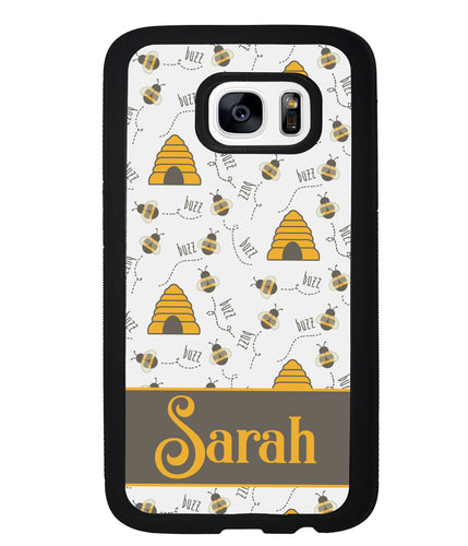 Honey Bee and Hive Personalized | Samsung Phone Case
