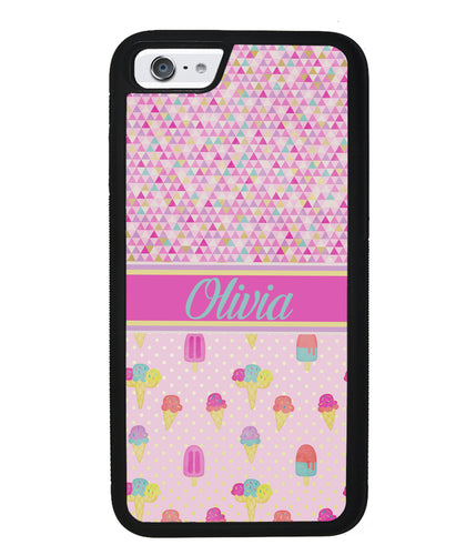 Ice Cream Triangle Personalized | Apple iPhone Case