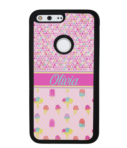 Ice Cream Triangle Personalized | Google Phone Case