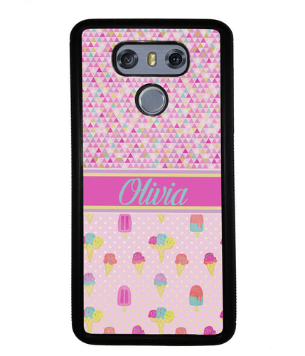 Ice Cream Triangle Personalized | LG Phone Case