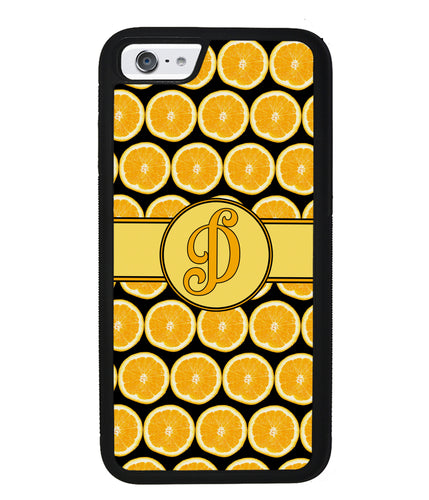 Lemon Pattern Initial | Apple iPhone Case