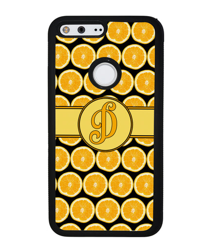 Lemon Pattern Initial | Google Phone Case