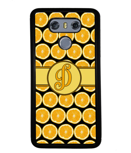Lemon Pattern Initial | LG Phone Case