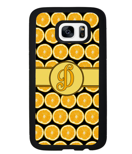 Lemon Pattern Initial | Samsung Phone Case