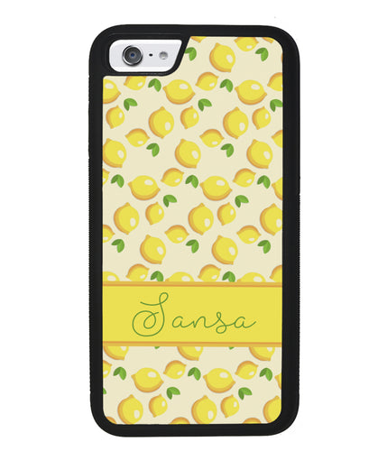 Lemon Pattern Personalized | Apple iPhone Case
