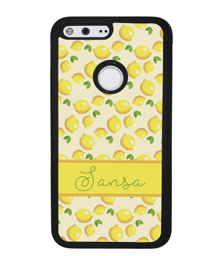 Lemon Pattern Personalized | Google Phone Case