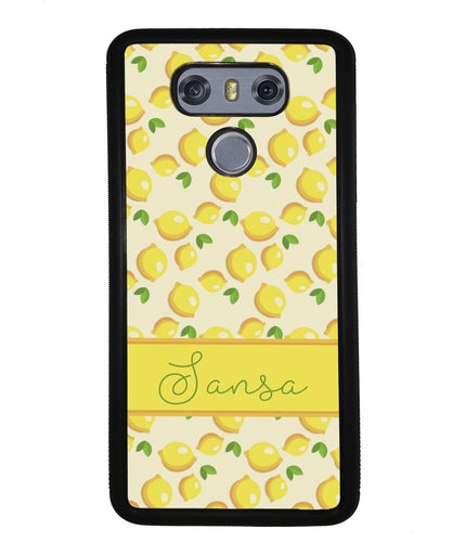 Lemon Pattern Personalized | LG Phone Case