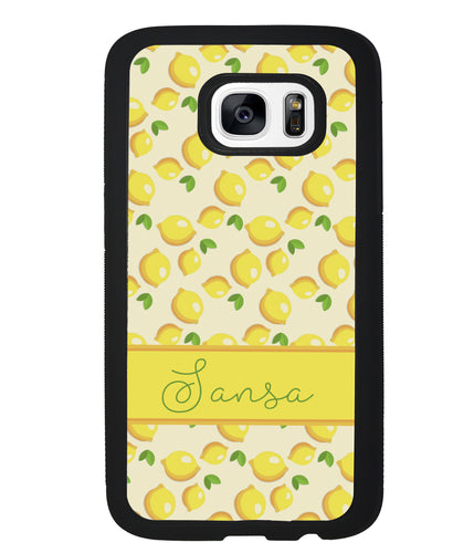 Lemon Pattern Personalized | Samsung Phone Case