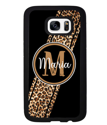 Leopard Animal Skin Stripe Personalized | Samsung Phone Case