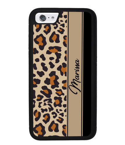 Leopard Skin Brown and Black Personalized | Apple iPhone Case