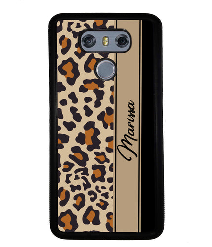 Leopard Skin Brown and Black Personalized | LG Phone Case