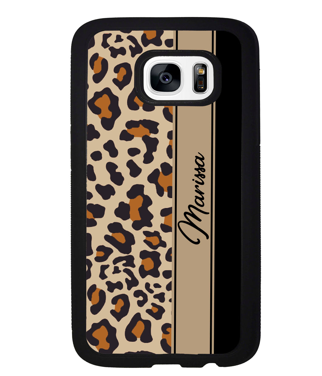 Leopard Skin Brown and Black Personalized | Samsung Phone Case