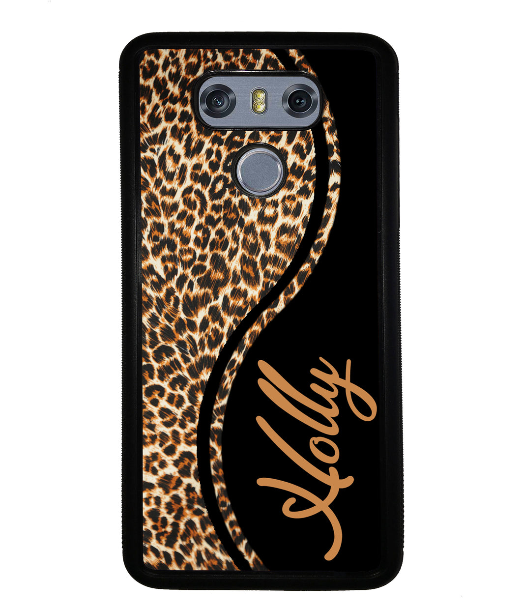 Leopard Curvy Personalized | LG Phone Case