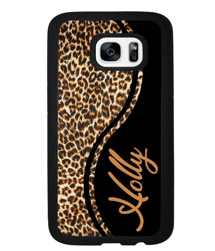 Leopard Curvy Personalized | Samsung Phone Case