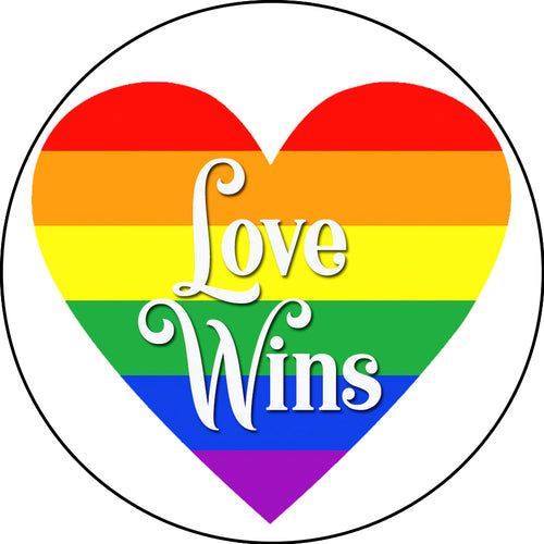 Love Wins Rainbow Heart Phone Stand