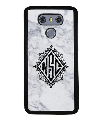 White Marble Diamond Monogram | LG Case