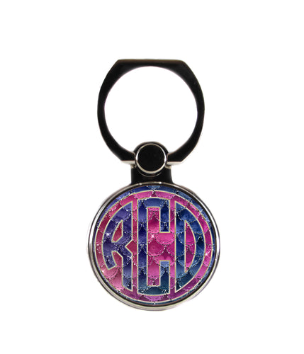 Mermaid Skin Circle Personalized Monogram Phone Ring