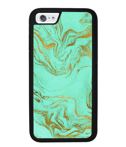 Mint and Gold Marble  | Apple iPhone Case