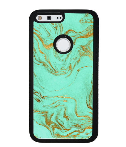 Mint and Gold Marble | Google Case