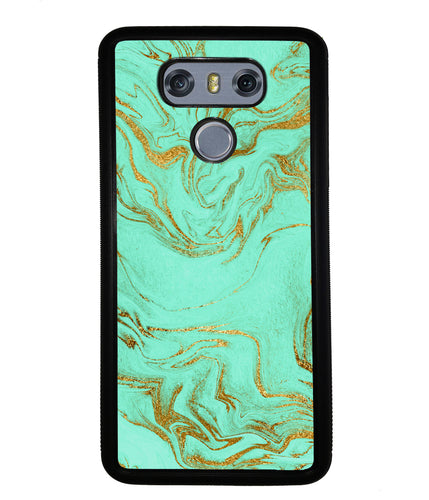 Mint and Gold Marble | LG Case